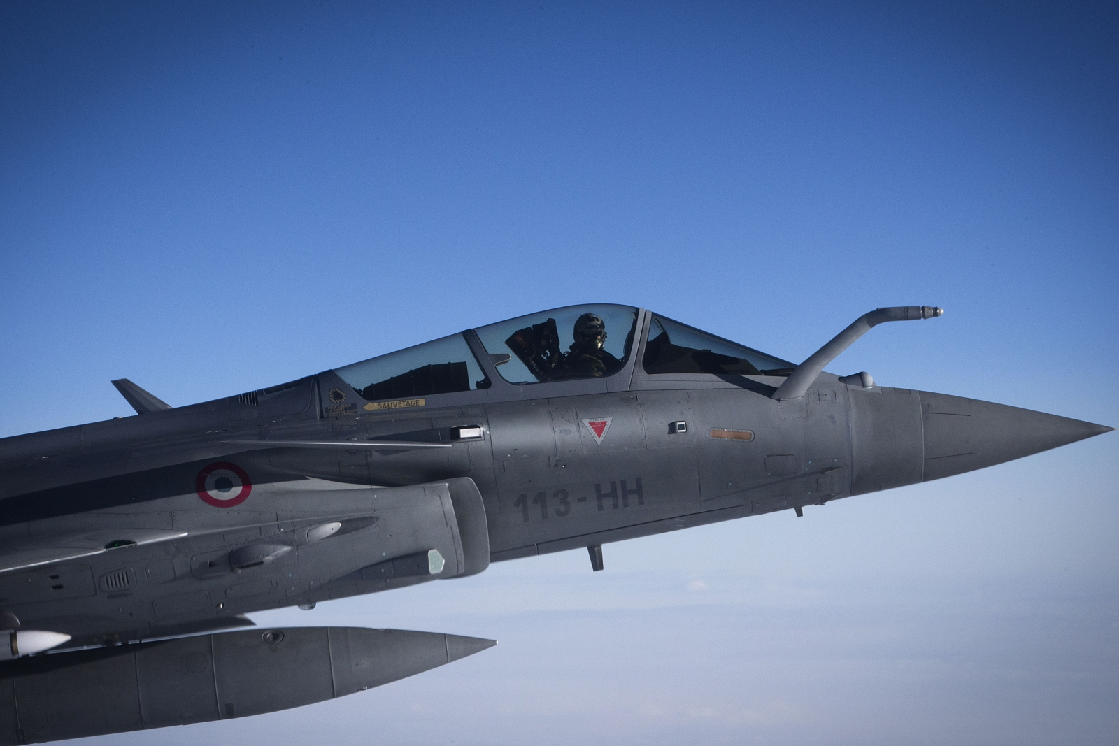 French Rafale fighter jets have bombed an arms dump and fuel depot in Iraq