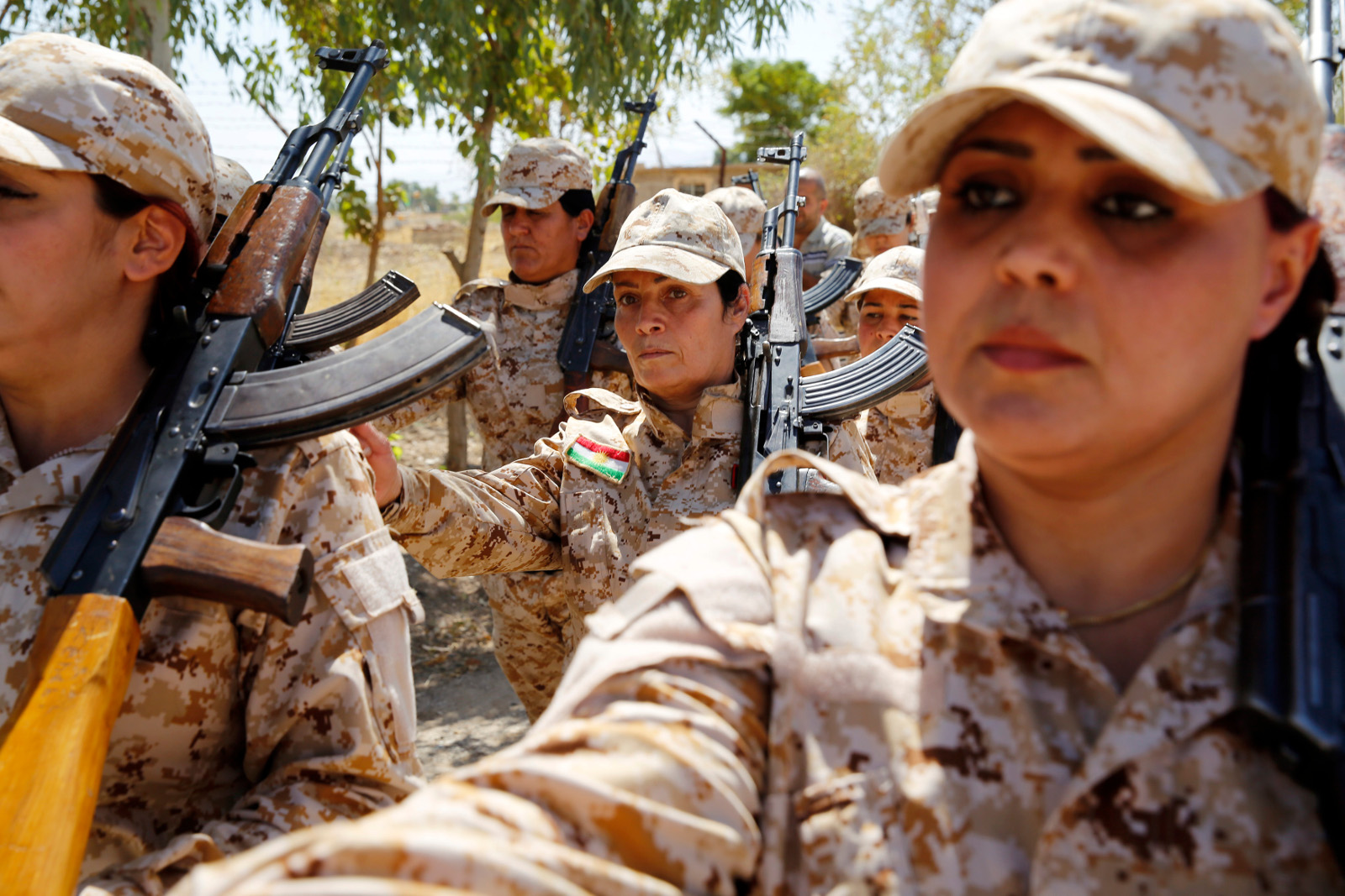 Kurdish Peshmerga female fighters 05