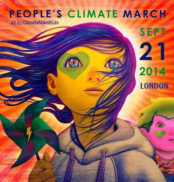 Peoples Climate March London poster