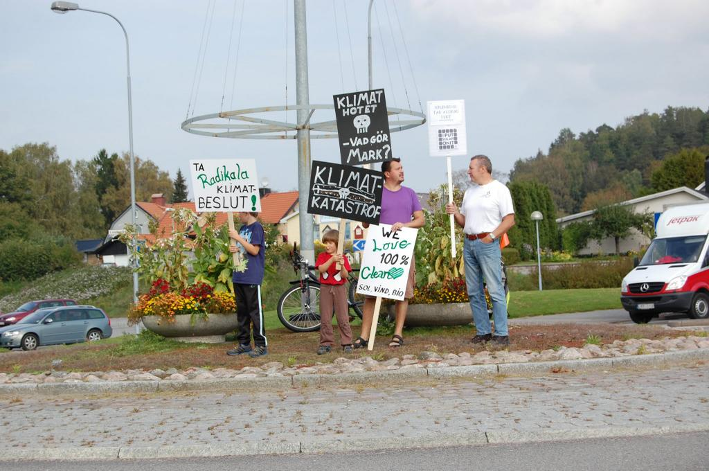 Peoples Climate March in Sweden