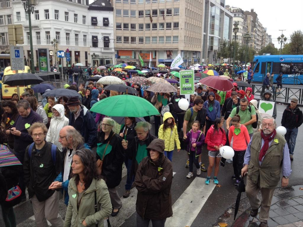 Peoples Climate March, Brussels