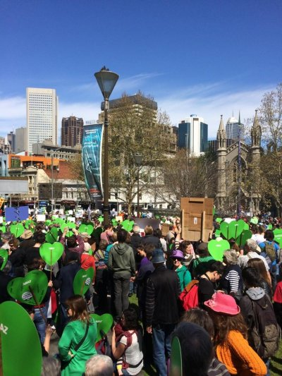Peoples Climate March, Melbourne, hearts