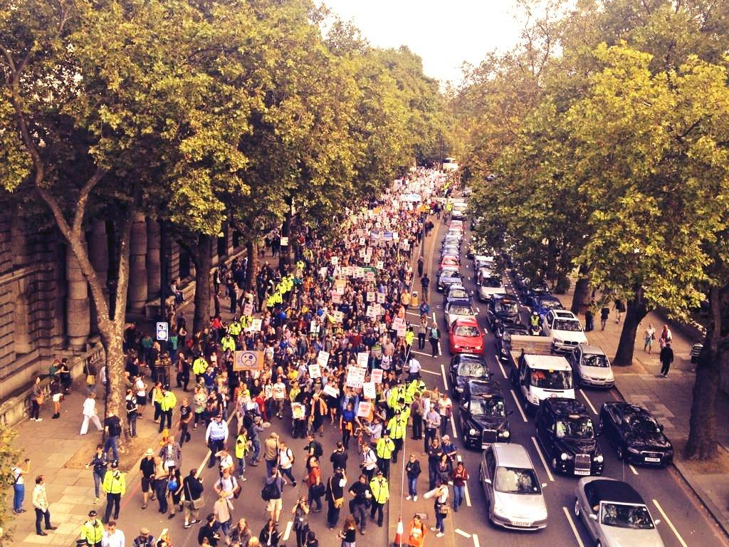 Peoples Climate March, London, wide shot