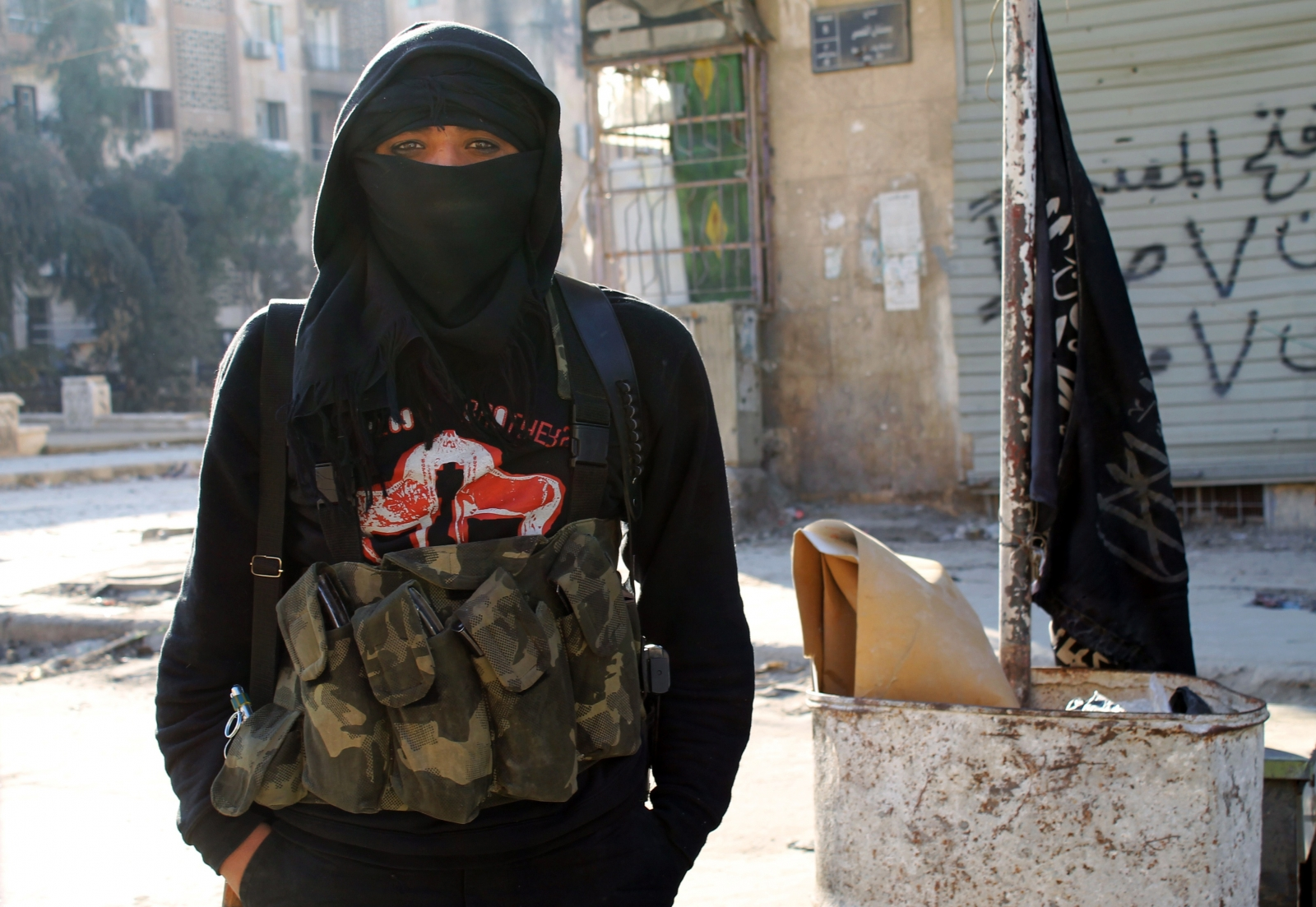 Member of jihadist group Jabhat al Nusra in Syria. (Getty)