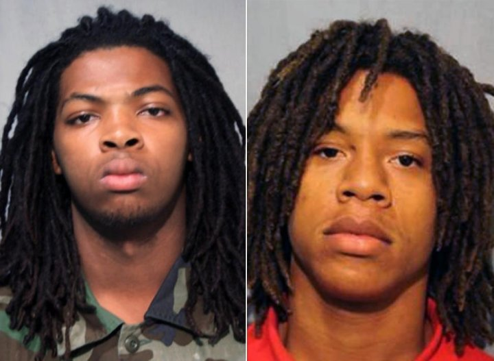 Michael baker and Paris R Denard, Both 19, both charged with killing Smith (Chicago Police Dept)