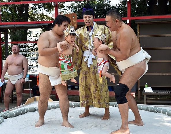 Japan Sumo Wrestlers Force Babies To Cry In Centuries Old Ritual For Good Health