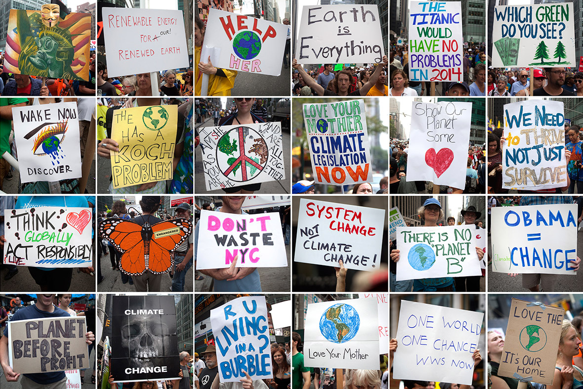 climate change march posters