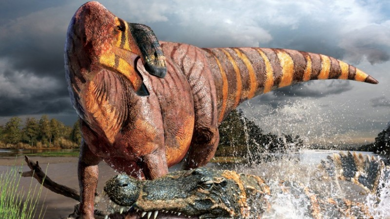 Large herbivorous dinosaurs ate crustaceans as a side dish