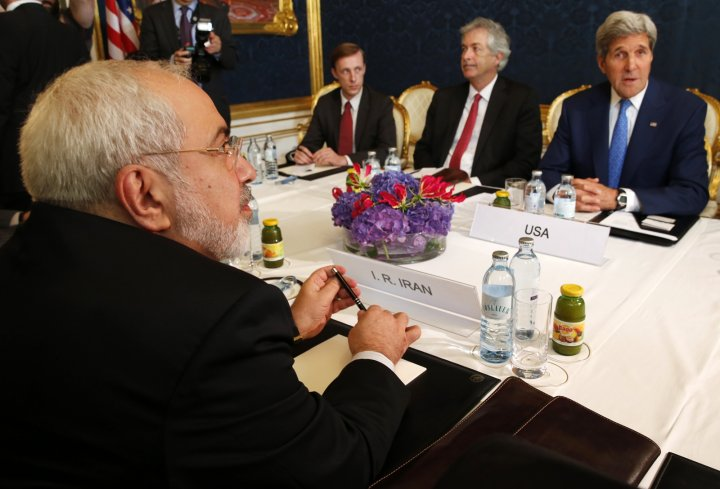 John Kerry and Iranian foreign minister hold talks