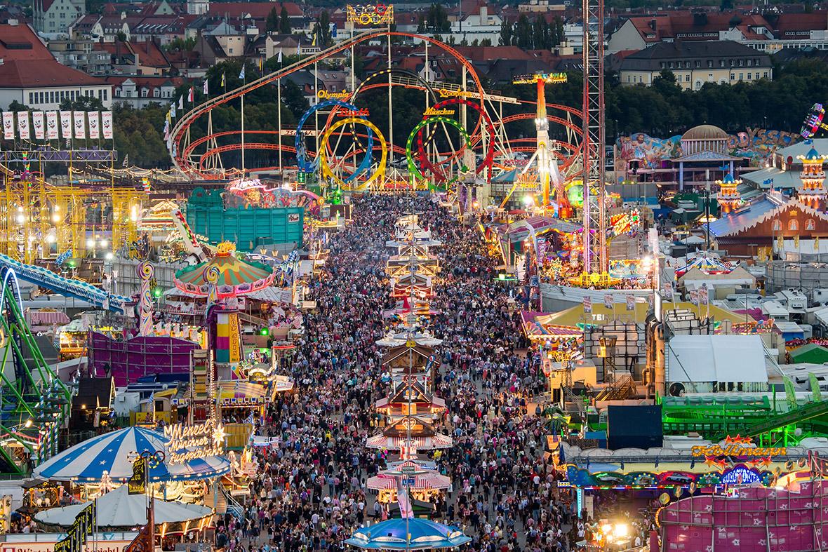 Germany Munich Police Fence In Oktoberfest After Terror