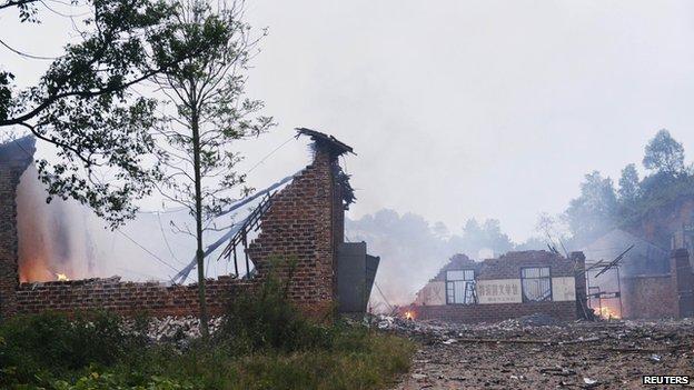 China fireworks factory blast Liling