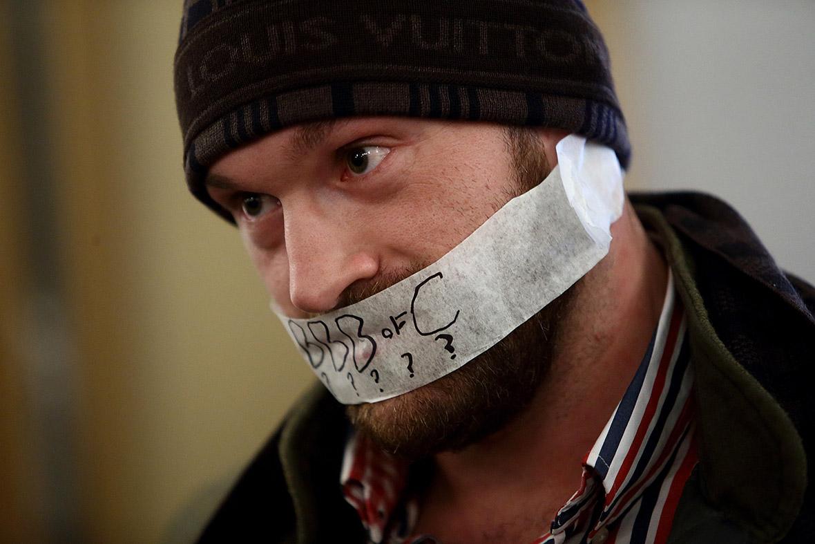 tyson fury tape mouth