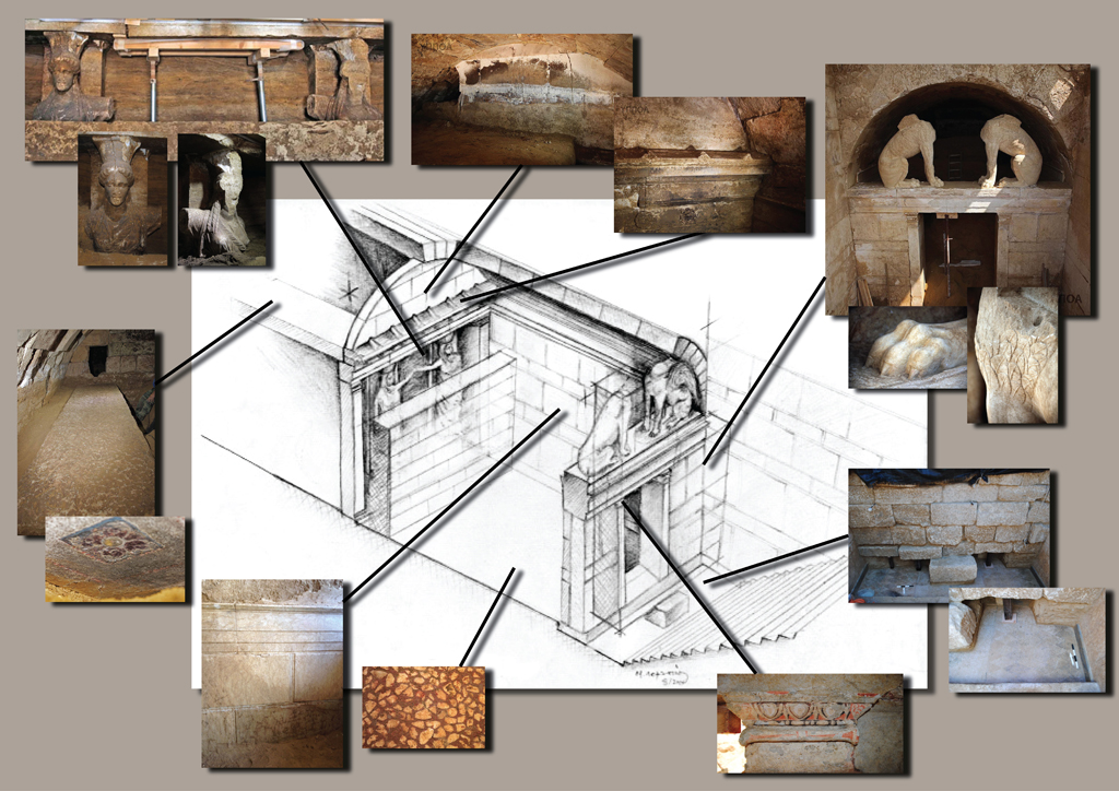 Discoveries so far in the Amphipolis tomb on Kasta Hill in Serres