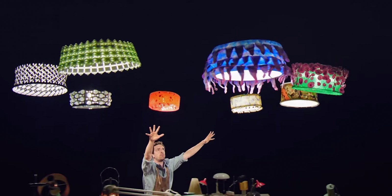 Cirque du Soleil\'s new short film features a human performer dancing with a fleet of helicopter drones playing magic flying lamps