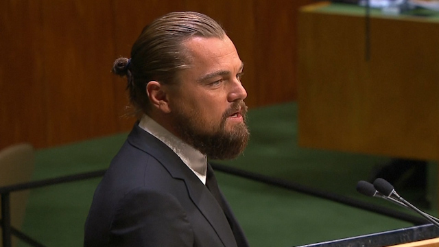 Leonardo DiCaprio Calls on UN to Combat Climate Change
