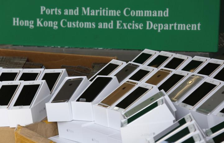 Smuggled iPhone 6 in Hong Kong