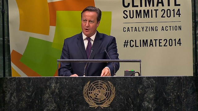 Cameron Touts UK Efforts to Stem Climate Change