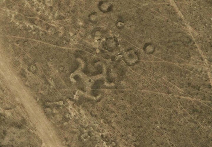 Kazakhstan geoglyph