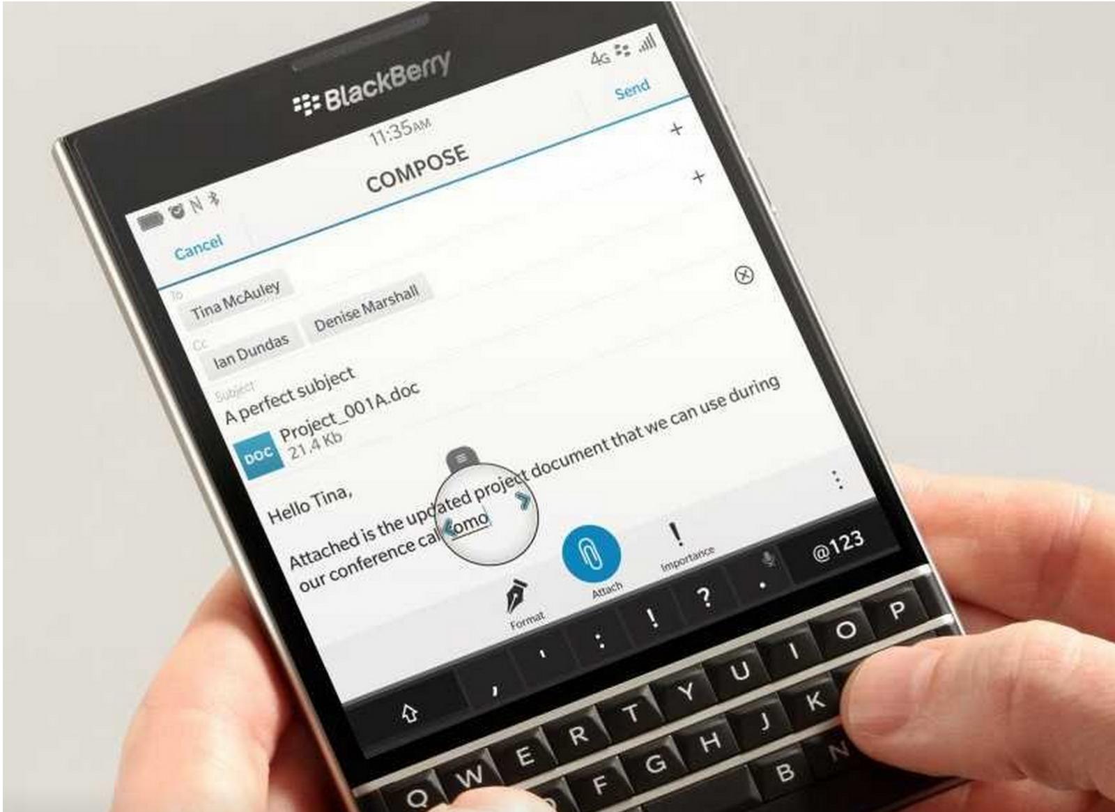 BlackBerry Passport Launched