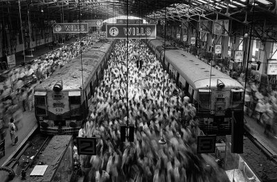 Sebastiao Salgado, Church Gate Station, Bombay, India, 1995