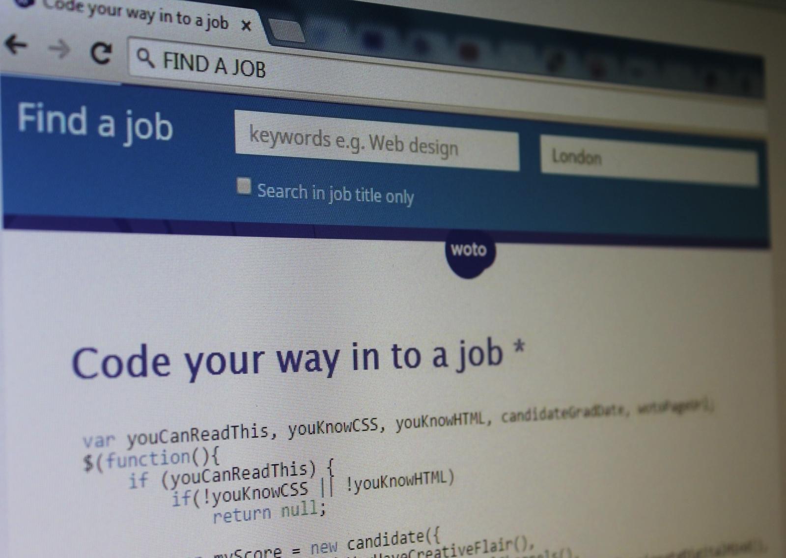 coding job advert woto