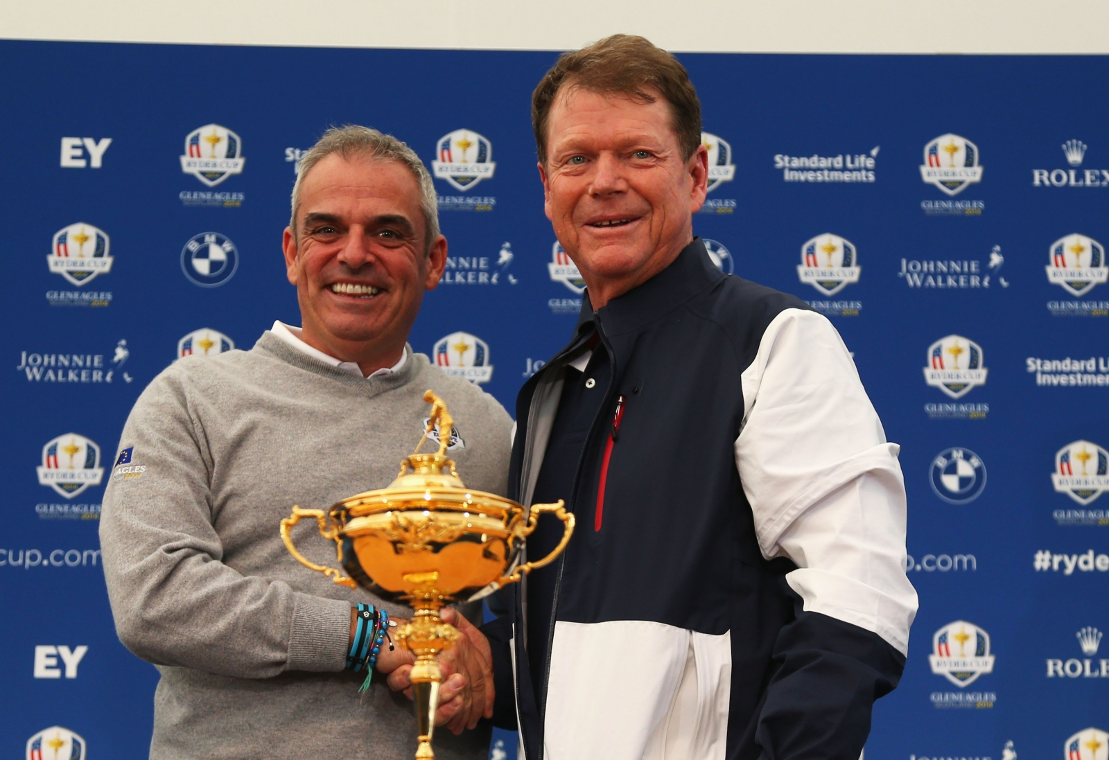 Paul McGinley and Tom Watson