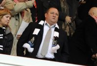 Newcastle United\'s owner Mike Ashley watches ahead of their English Premier League soccer match