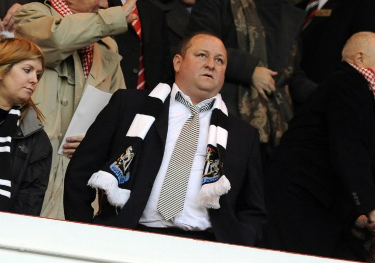 Newcastle United's owner Mike Ashley watches ahead of their English Premier League soccer match