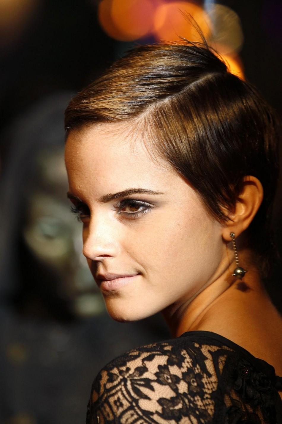 Emma Watson as Anastacia Steele in Fifty Shades of Grey Movie