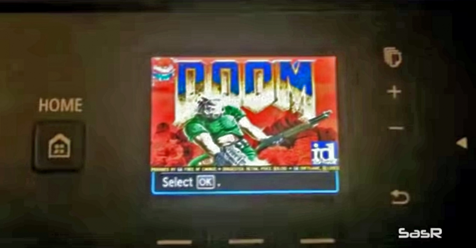 This is Doom, running on a Canon Pixma Printer's LCD screen - a security firm has detected a flaw that lets wireless printers be hacked
