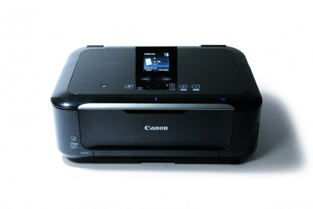 An example of a Canon Pixma printer with an LCD screen that can access a web interface