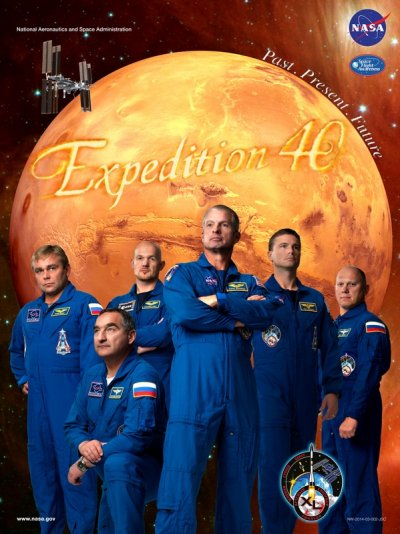 Nasa space station expedition posters