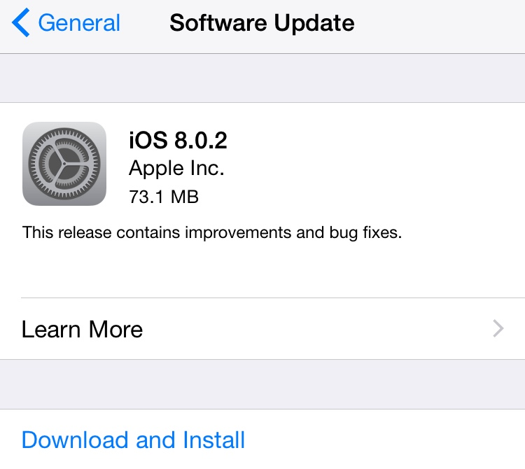 iOS 8.0.2 Bug-Fix Update Released to Fix 3G Connectivity and Touch ID Issues [Full Changelog]