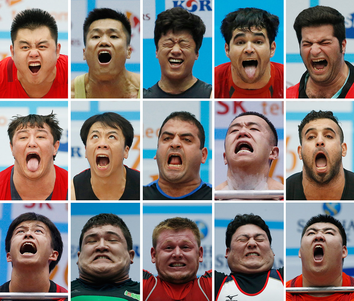 weightlifters faces