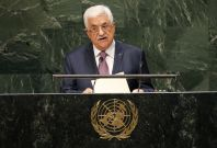 Palestinian President Mahmoud Abbas addresses the 69th United Nations General Assembly at the United Nations Headquarters in New York.