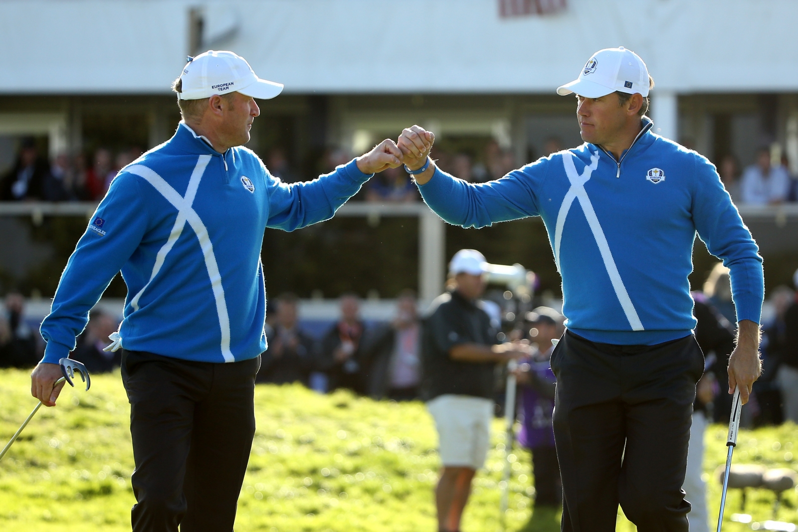 Lee Westwood and Jamie Donaldson