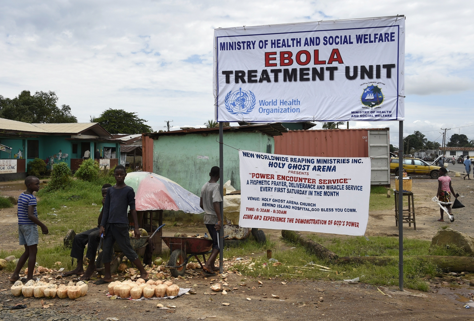 Ebola treatment clinic in Monrovia, Liberia. (PASCAL GUYOT/AFP/Getty Images)