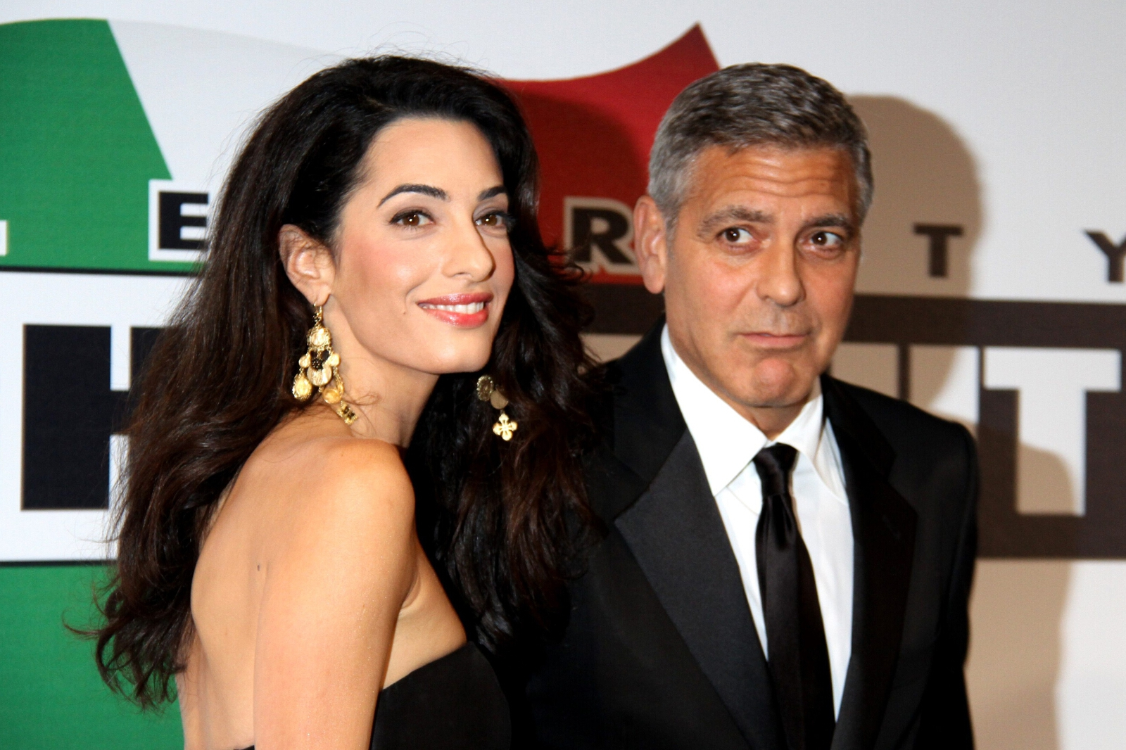 Aman Alamuddin and George Clooney