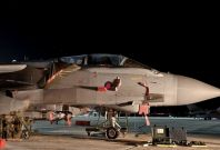 Two Tornado GR4 jets took off from a British military base in Cyprus to commence the UK\'s campaign against Isis in Iraq.