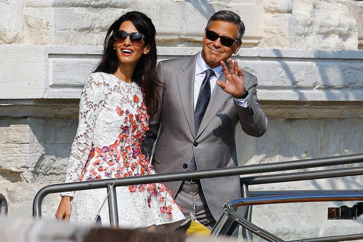 George Clooney and wife Amal Alamuddin