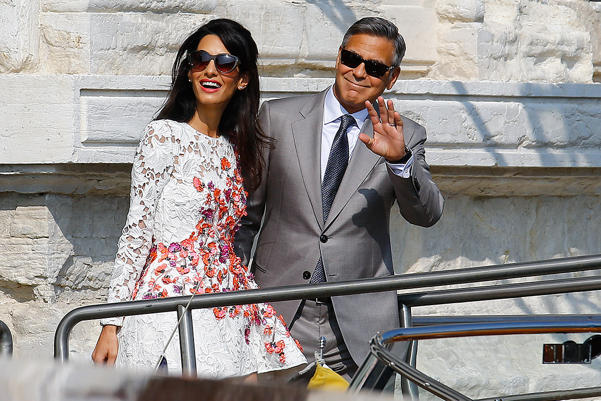 George Clooney and wife Amal Alamuddin