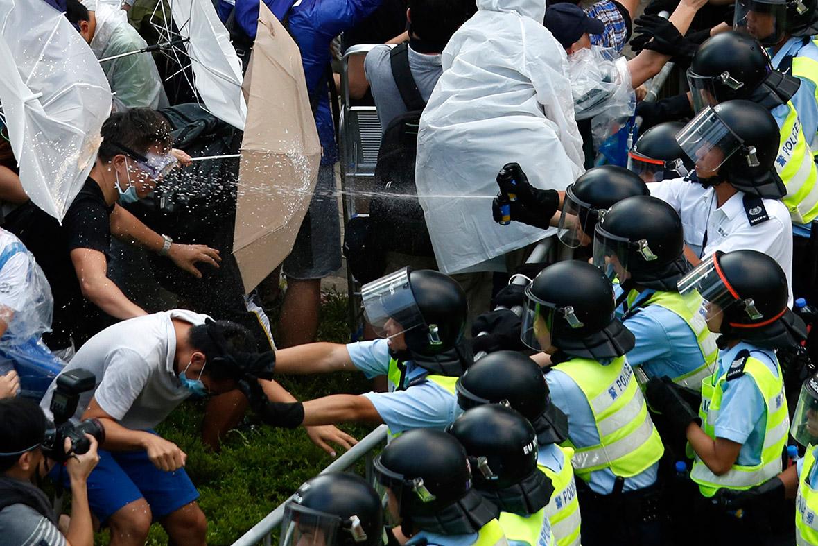 hong kong pepper spray