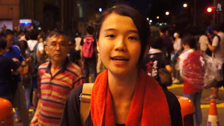Hong Kong protest video