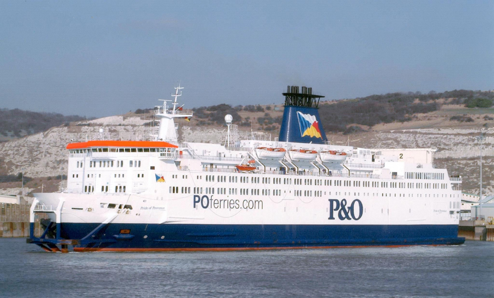 An undated hand out photograph released on April 18, 2003 shows the P&O Pride of Provence ferry.