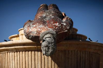 assad statue