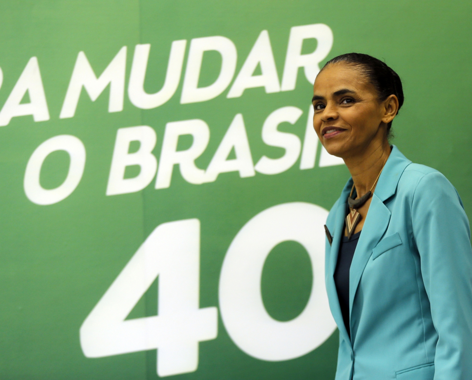 Brazilian Socialist Party (PSB) presidential candidate Marina Silva arrives for a news conference in Sao Paulo