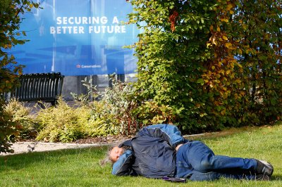 Conservative Party Conference rough sleeper