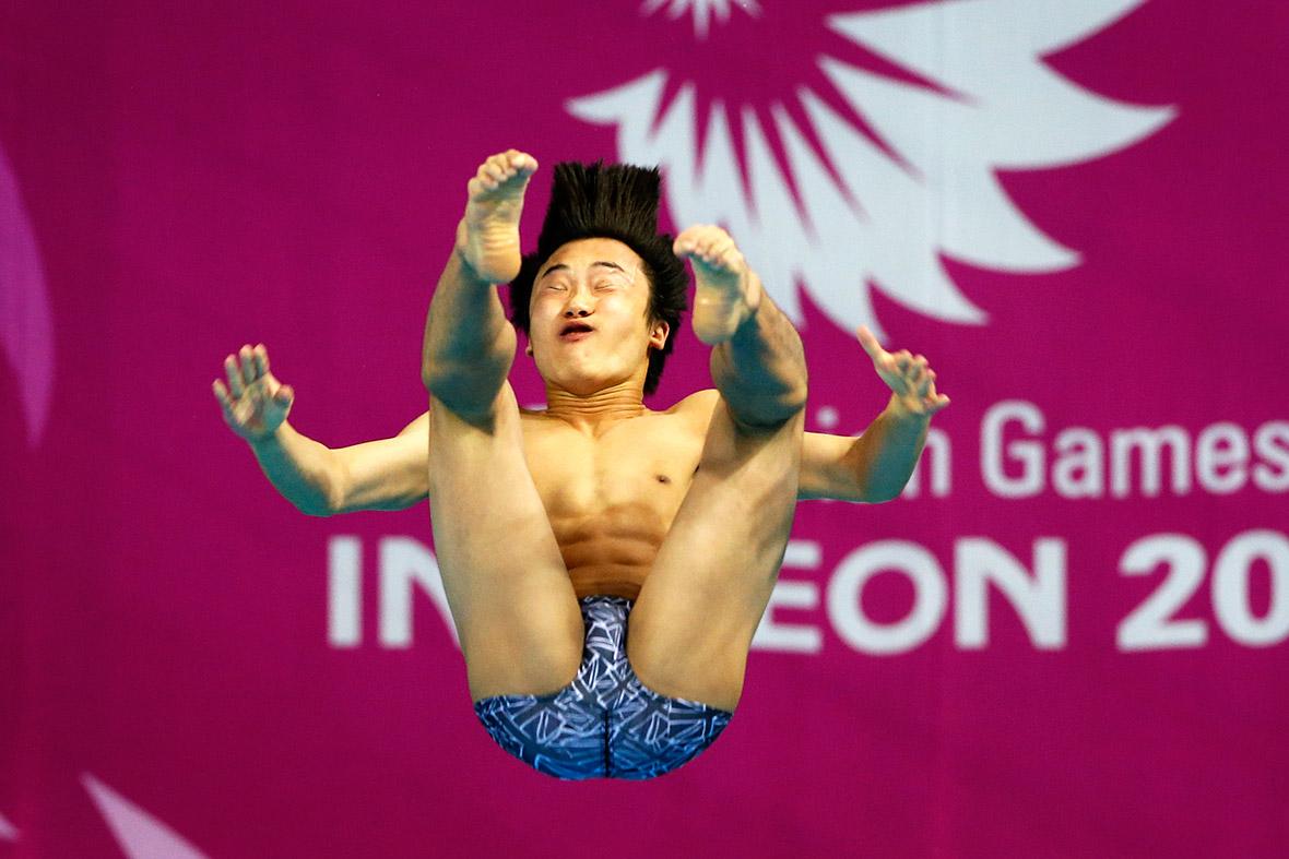 asian games diving