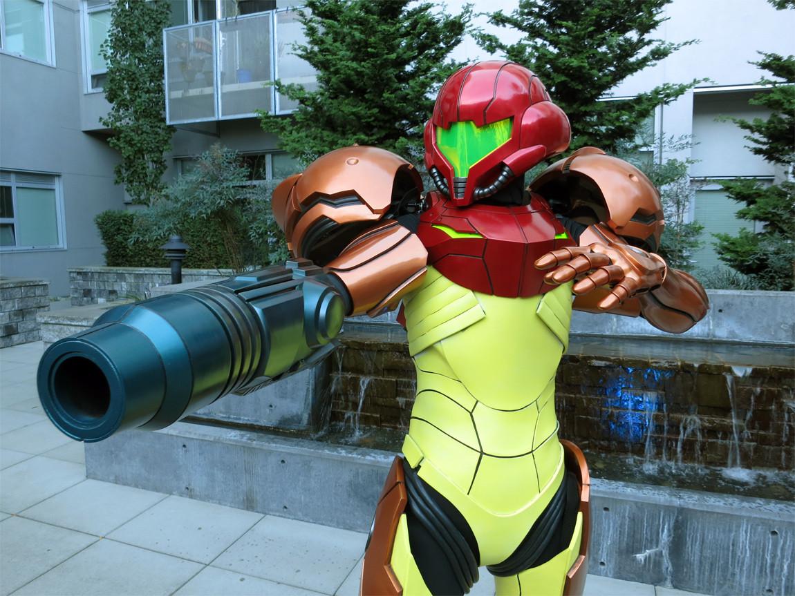 Chelsea Mills as Samus Aran in Metroid Prime 3: Corruption