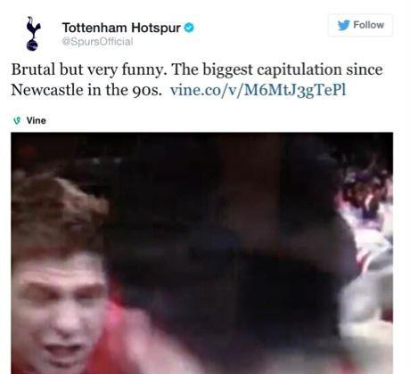 Tottenham tweet
